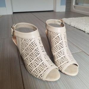 Call it Spring open toe heels cream/nude
